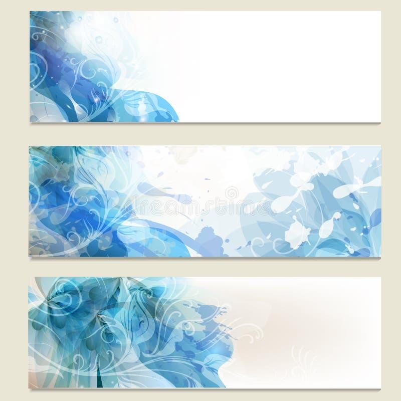 Abstrakcjonistyczne błękitne biznesowe wektor karty ustawiają dla projekta ilustracja wektor
