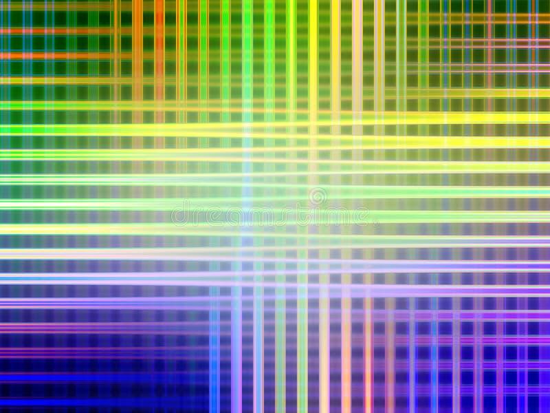 Abstrakcjonistyczne błękitnej zieleni żółtych linii geometrie, figlarnie geometrii tło, grafika, abstrakcjonistyczny tło i tekstu ilustracja wektor