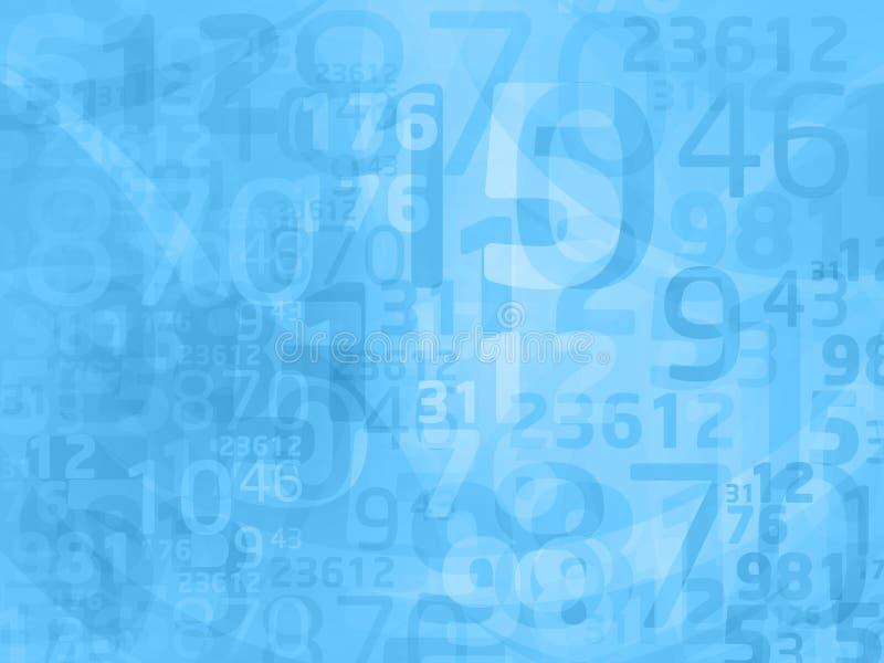 abstrakcjonistyczne błękitny liczby royalty ilustracja