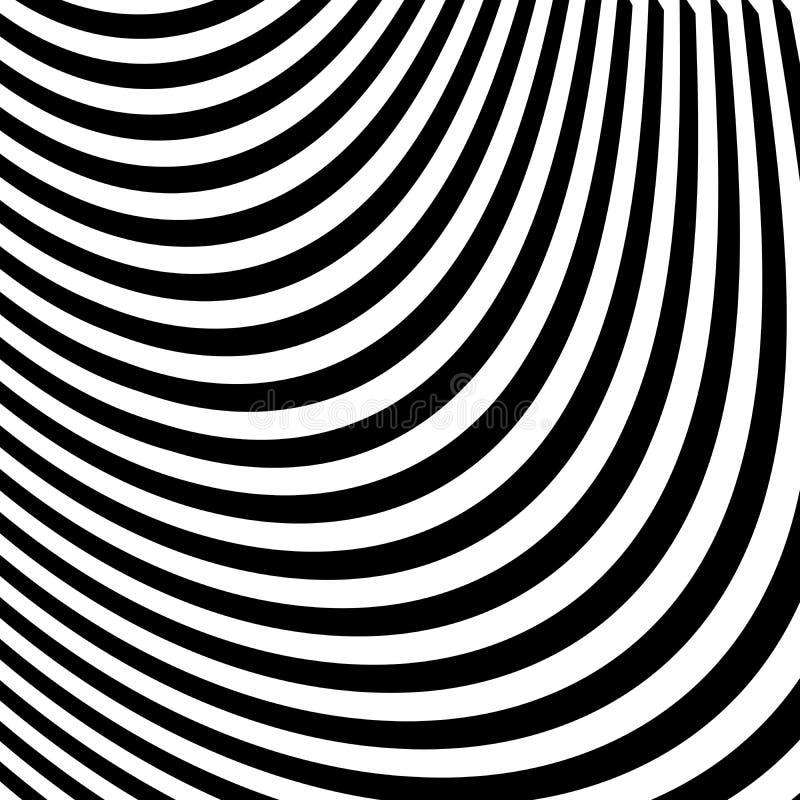 Abstrakcjonistyczne Czarny I Biały abstrakt linie royalty ilustracja