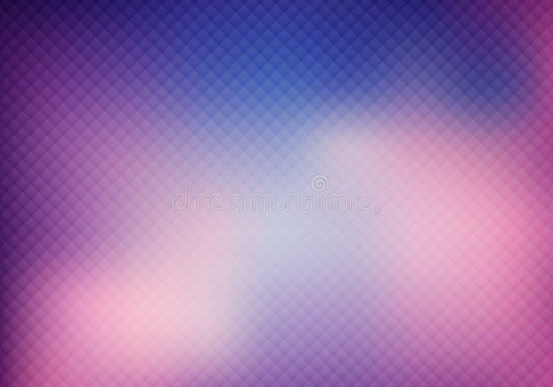 Abstrakcjonistyczne 3D purpury barwią siatkę na zamazanym tle i teksturze ilustracja wektor