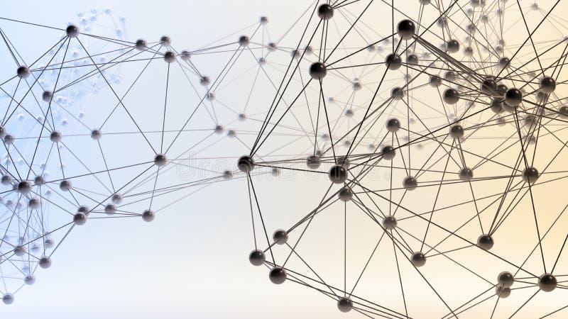 Abstrakcjonistyczne 3D sieci ilustracji