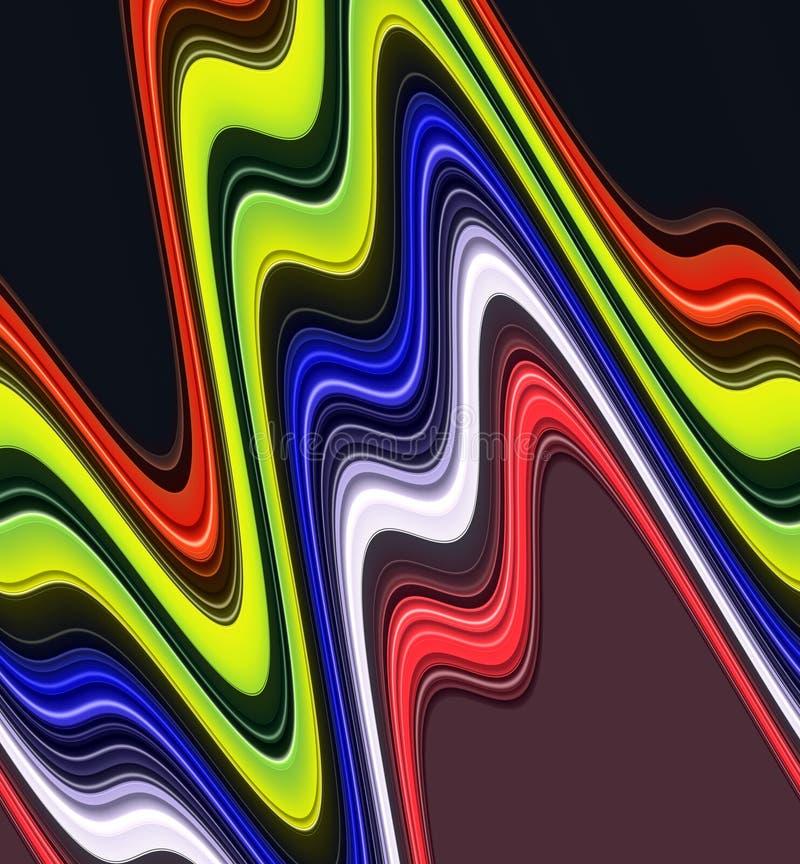 Abstrakcjonistyczne dymiące rzadkopłynne kolorowe geometrie, kolory, cienią abstrakcjonistyczne grafika tło abstrakcjonistyczna t ilustracji