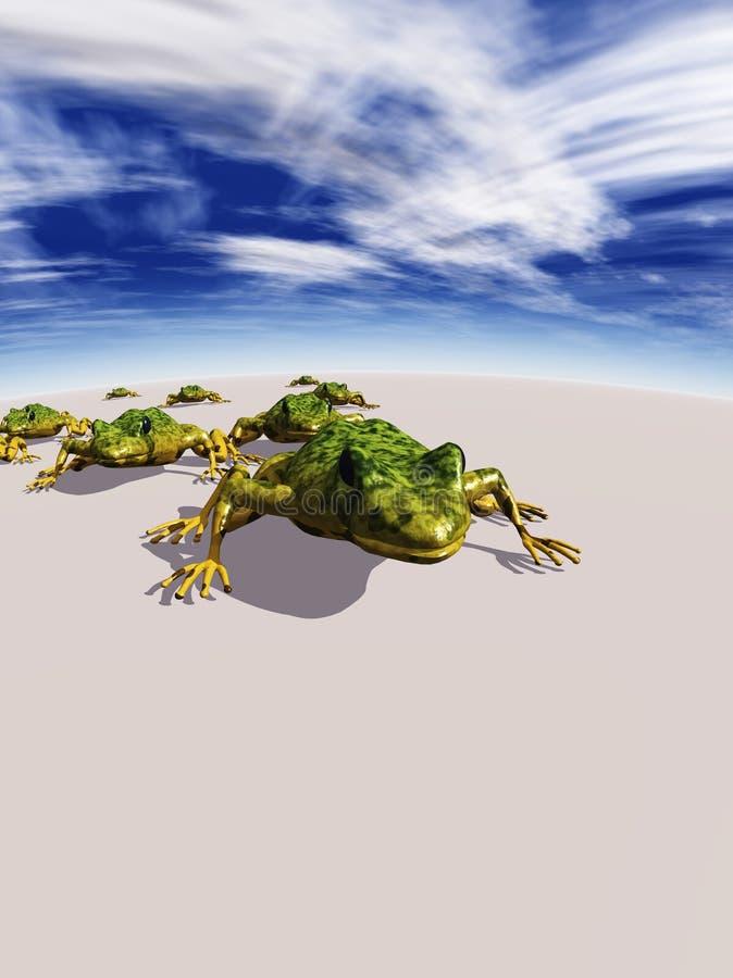 abstrakcjonistyczne ekologiczne żaby ilustracja wektor