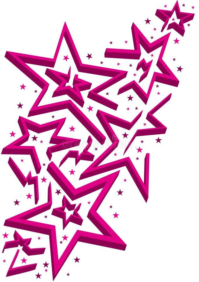 abstrakcjonistyczne eps labiryntu gwiazdy royalty ilustracja