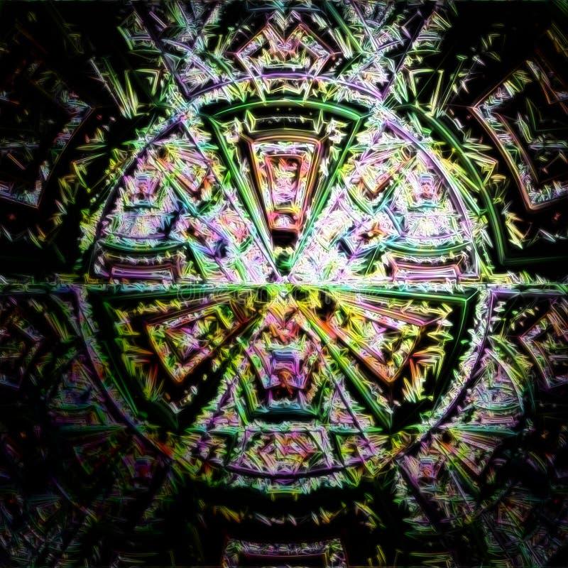 Abstrakcjonistyczne fractal ilustracje w pięknym kolorze i wysokiej definici ilustracji