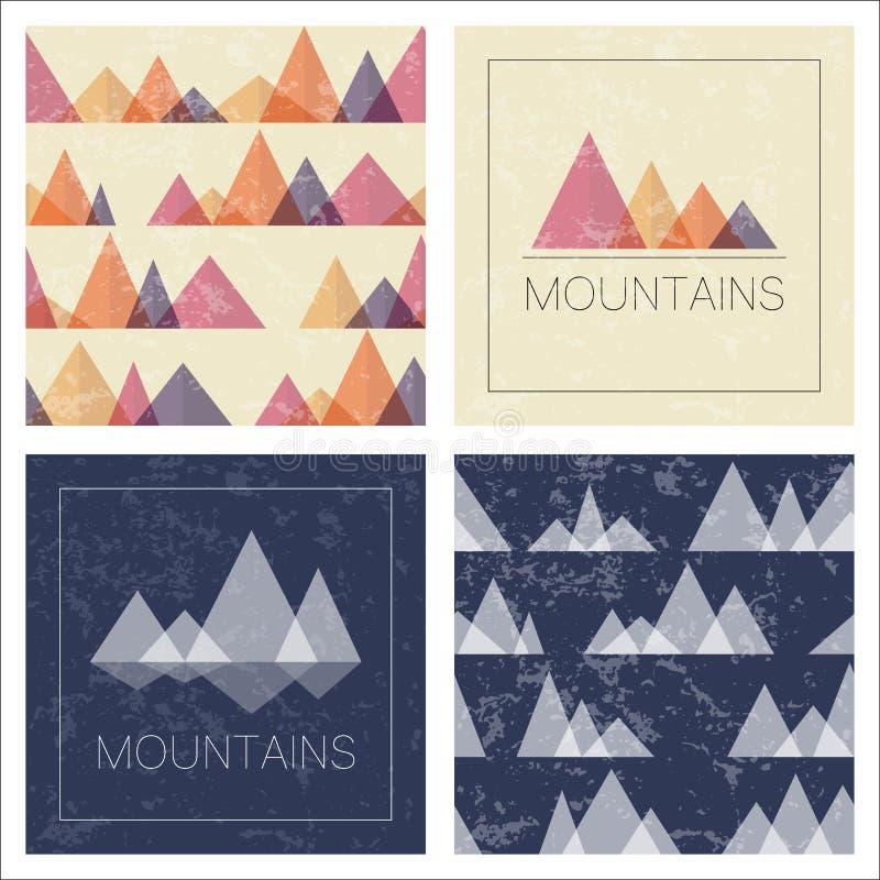 Abstrakcjonistyczne góry w geometrycznym stylu ilustracji