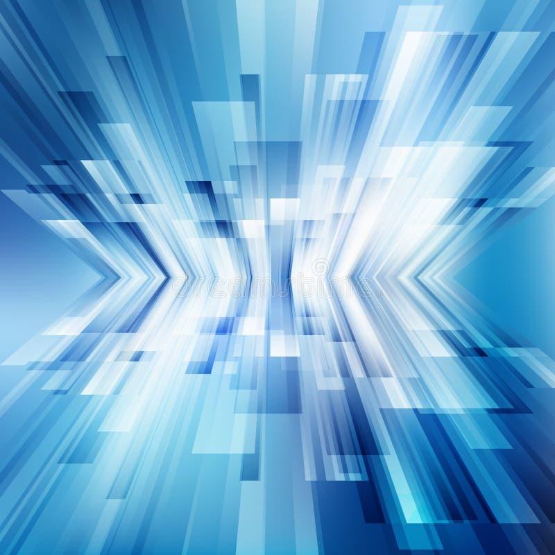 Abstrakcjonistyczne geometryczne diagonalne niebieskie linie pokrywają się warstwa biznesowego błyszczącego ruchu tła technologii royalty ilustracja