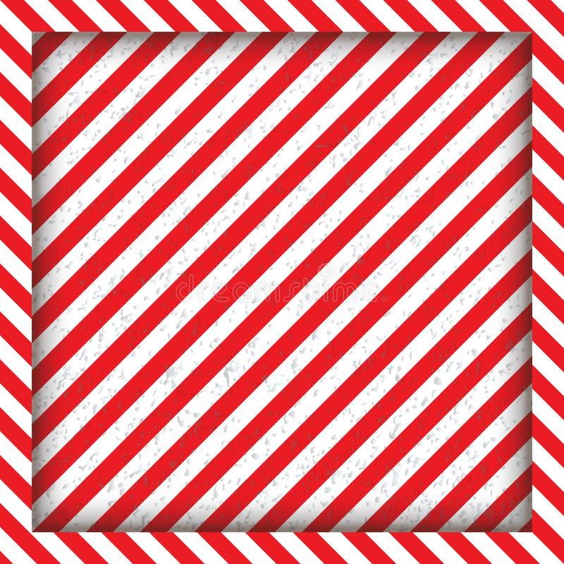 Abstrakcjonistyczne geometryczne linie z diagonalnymi czarnych i czerwieni lampasami Kwadratowa rama również zwrócić corel ilustr obraz stock