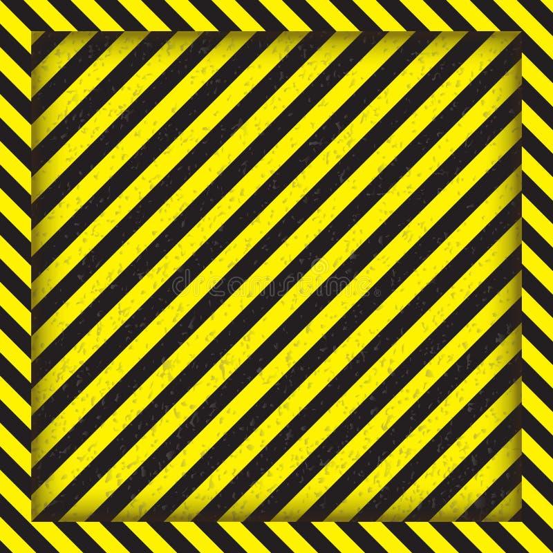 Abstrakcjonistyczne geometryczne linie z diagonalnymi czarnych i koloru żółtego lampasami Kwadratowa rama również zwrócić corel i zdjęcia stock