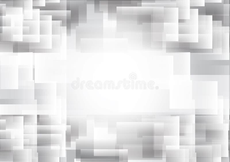 Abstrakcjonistyczne geometryczne nasunięcia tła nowożytnego projekta szarość i biel barwią, Wektorowa ilustracja z kopii przestrz royalty ilustracja