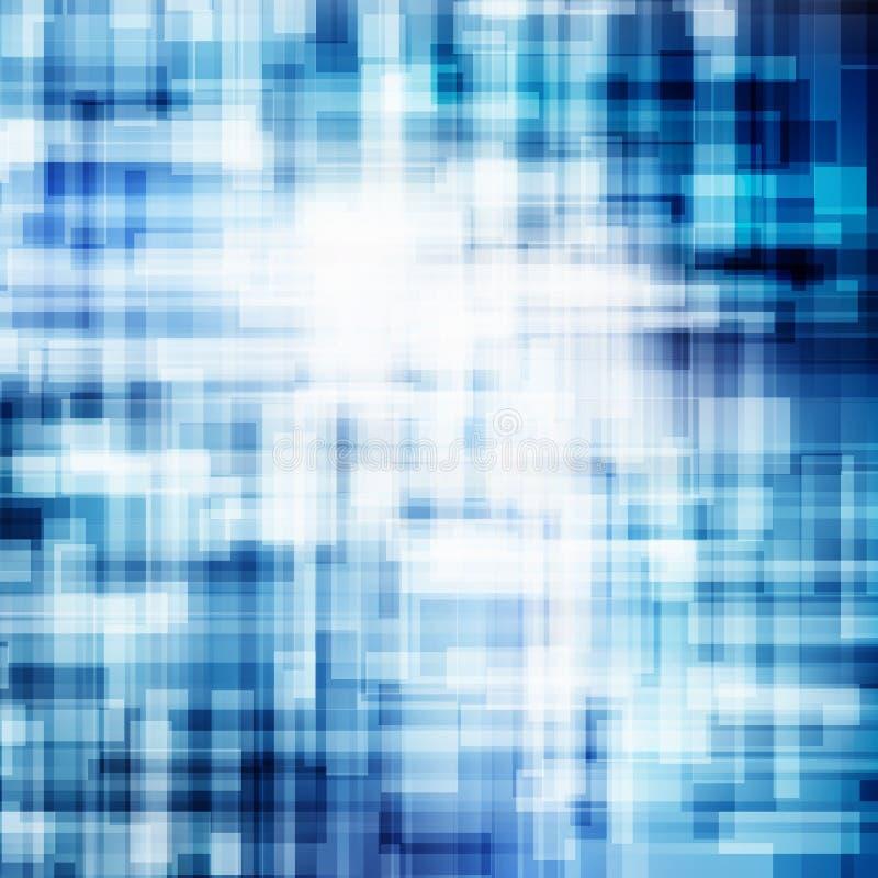 Abstrakcjonistyczne geometryczne niebieskie linie pokrywają się warstwa ruchu tła technologii biznesowego błyszczącego pojęcie ilustracja wektor