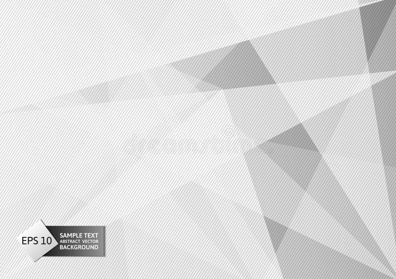 Abstrakcjonistyczne geometryczne szarość i biel barwią, Nowożytnego projekta tło z kopii przestrzenią, Wektorowa ilustracja eps10 ilustracji