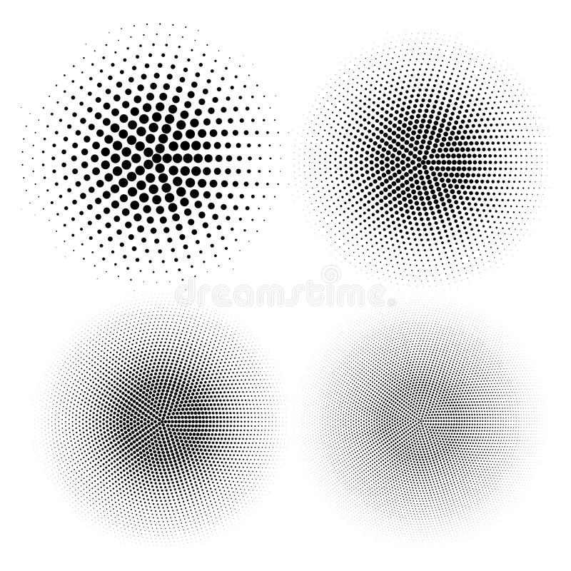 Abstrakcjonistyczne halftone kropki dla grunge tła royalty ilustracja