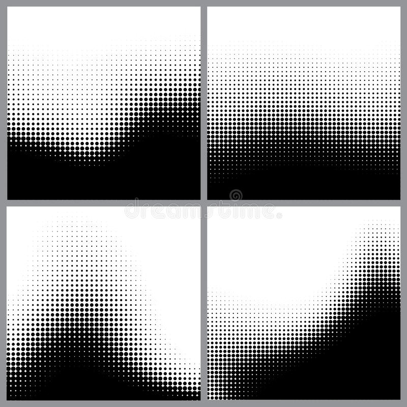 Abstrakcjonistyczne halftone kropki dla grunge tła ilustracja wektor