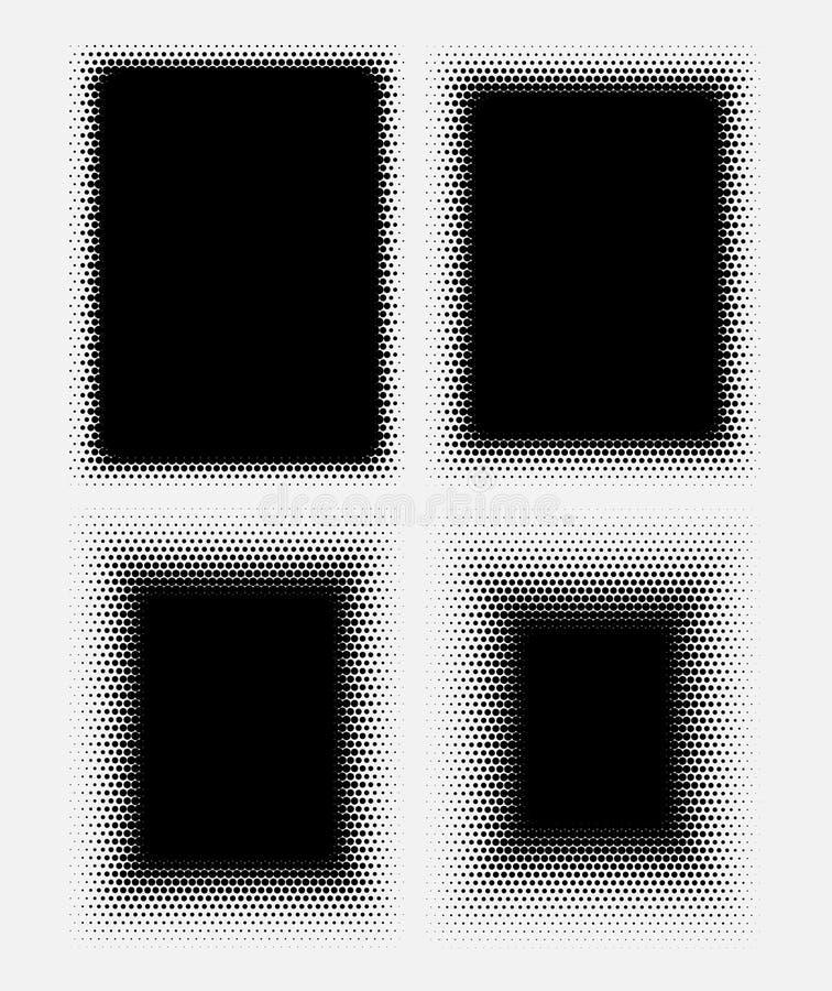 Abstrakcjonistyczne halftone kropki dla grunge tła ilustracji