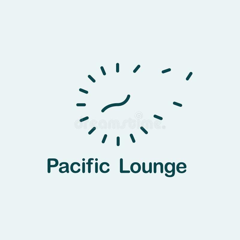 Abstrakcjonistyczne halftone kropki i czasu logo dla technologii biznesowej firmy pojęcia wektoru ilustracji ilustracja wektor