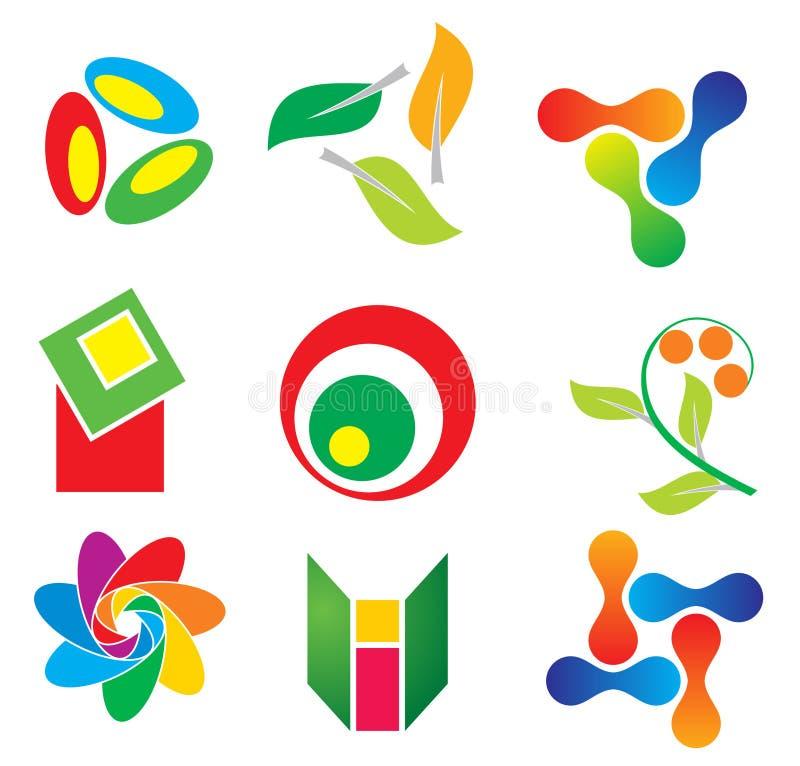 abstrakcjonistyczne ikony ilustracja wektor