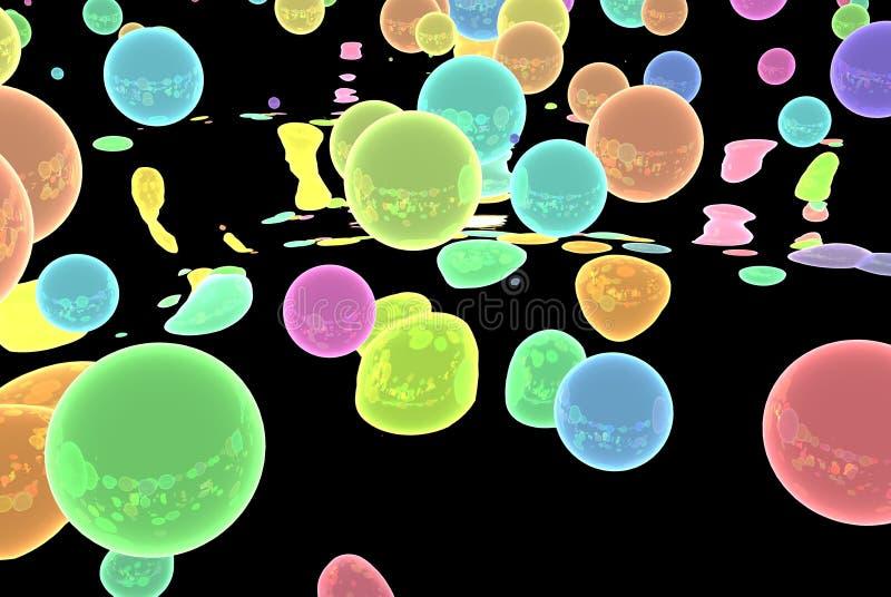 Abstrakcjonistyczne kolor sfery na czarnym tle zdjęcie royalty free
