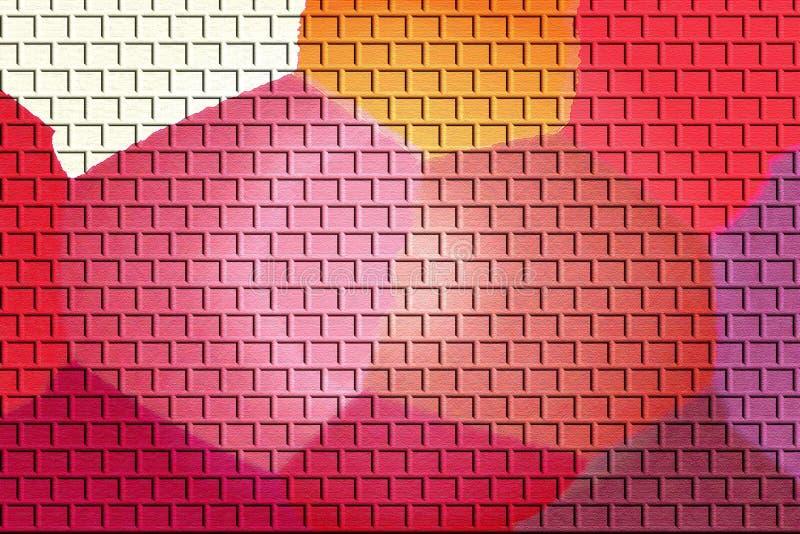 Abstrakcjonistyczne kolorowe cegły fotografia royalty free