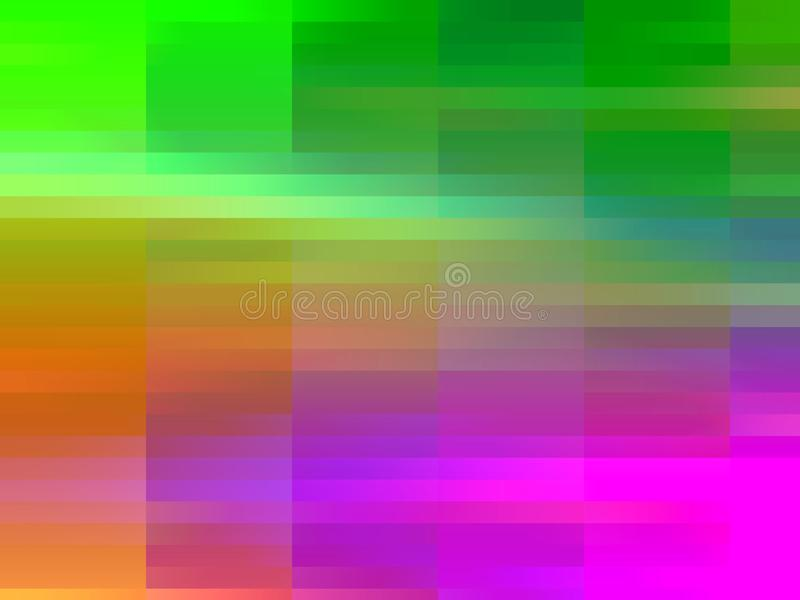 Abstrakcjonistyczne kolorowe menchie zielenieją pomarańczowe geometrie, abstrakcjonistyczne grafika royalty ilustracja
