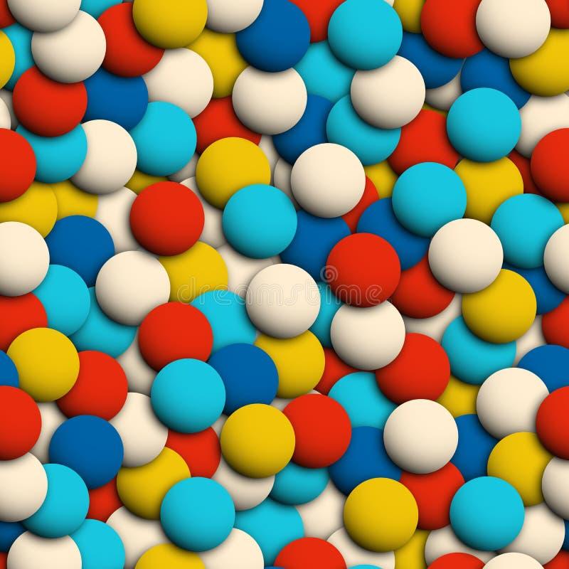 Abstrakcjonistyczne kolorowe sfery bezszwowy 3d lubią teksturę ilustracja wektor