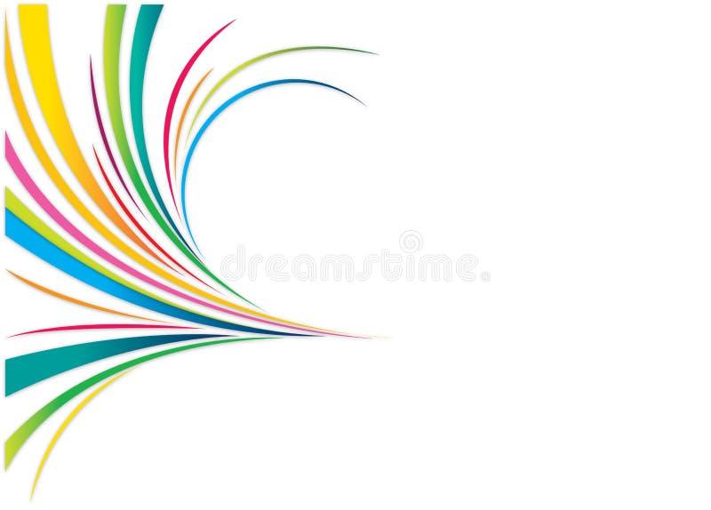 Download Abstrakcjonistyczne linie ilustracja wektor. Obraz złożonej z świętuje - 7494660