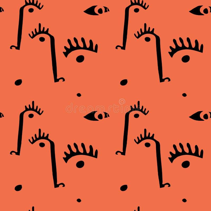 Abstrakcjonistyczne minimalne twarze ilustracja wektor