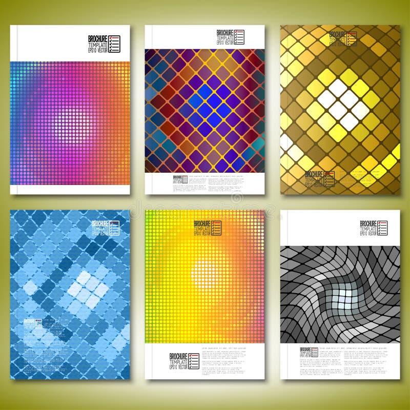 Abstrakcjonistyczne mozaiki Broszurka, ulotka lub raport dla, ilustracji