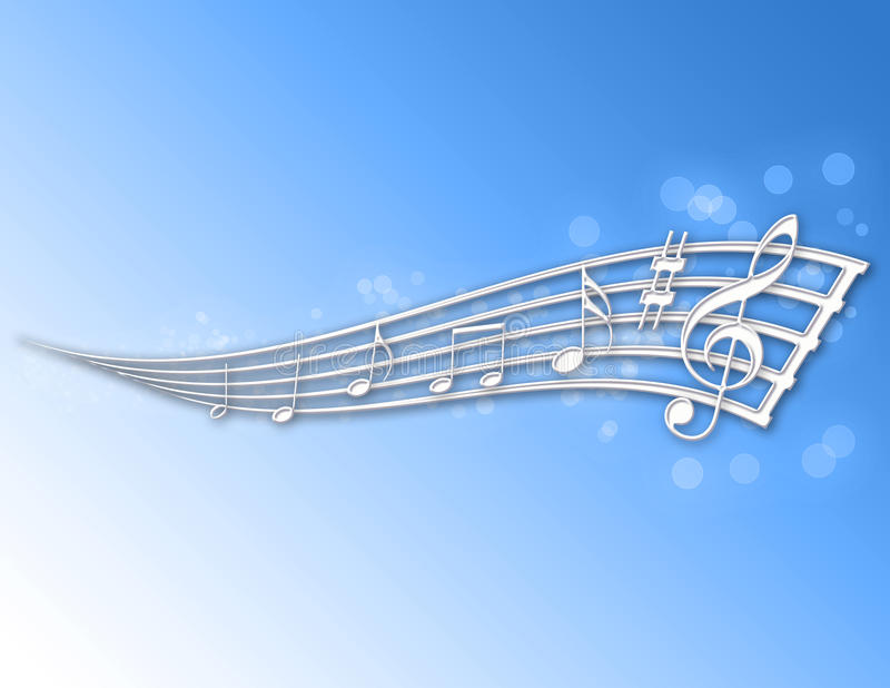abstrakcjonistyczne muzyczne notatki ilustracji