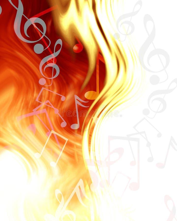 Abstrakcjonistyczne muzykalne notatki ilustracja wektor