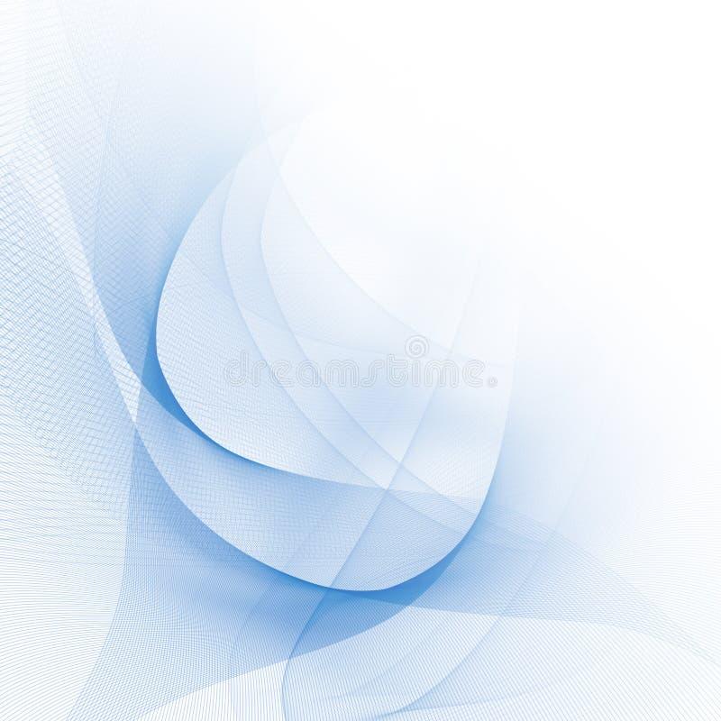 Abstrakcjonistyczne niebieskie linie royalty ilustracja