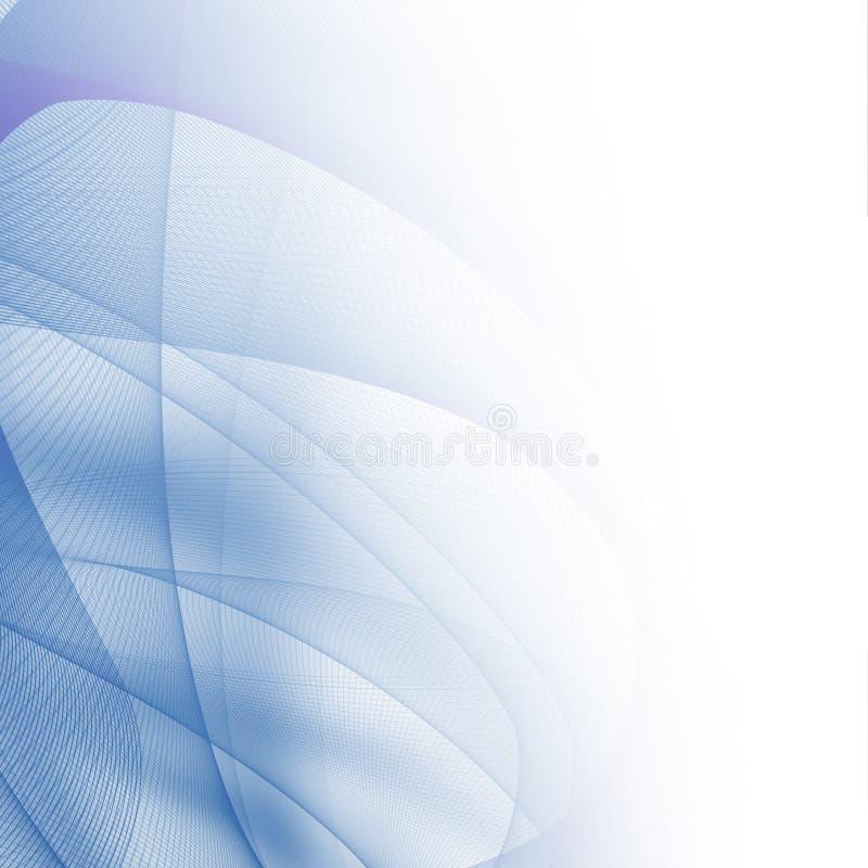 Abstrakcjonistyczne niebieskie linie ilustracja wektor