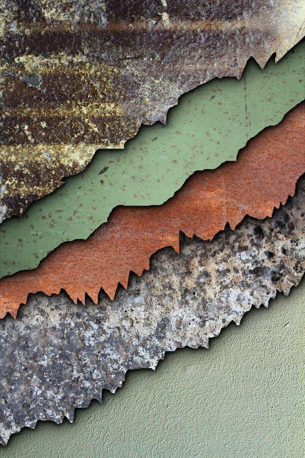 Abstrakcjonistyczne ośniedziałe tekstury łączyć zdjęcia royalty free