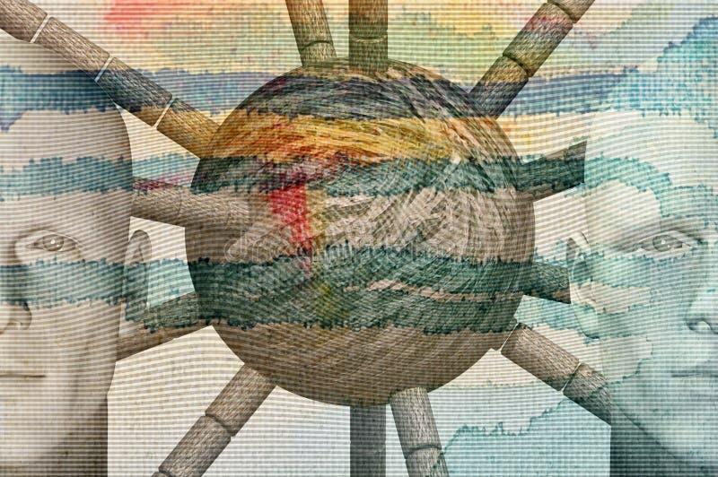 abstrakcjonistyczne postacie ilustracja wektor