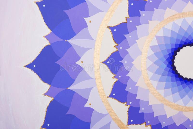 Abstrakcjonistyczne purpury malujący obrazka mandala obraz stock