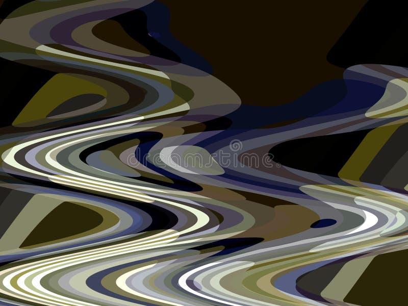 Abstrakcjonistyczne rzadkopłynne linie, iskrzaste ciemne białe niebieskich linii geometrie, abstrakcjonistyczne grafika ilustracja wektor