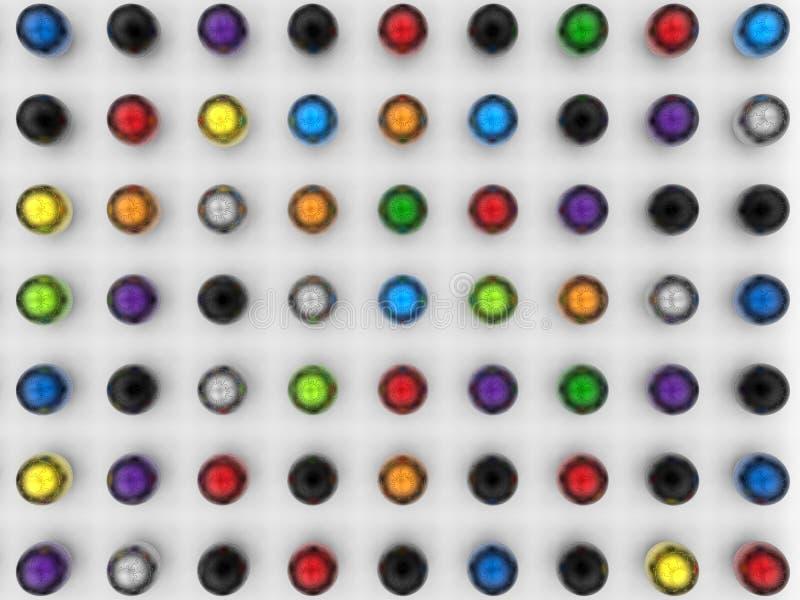 Abstrakcjonistyczne sfery w prostokątnym wzorze zdjęcie stock