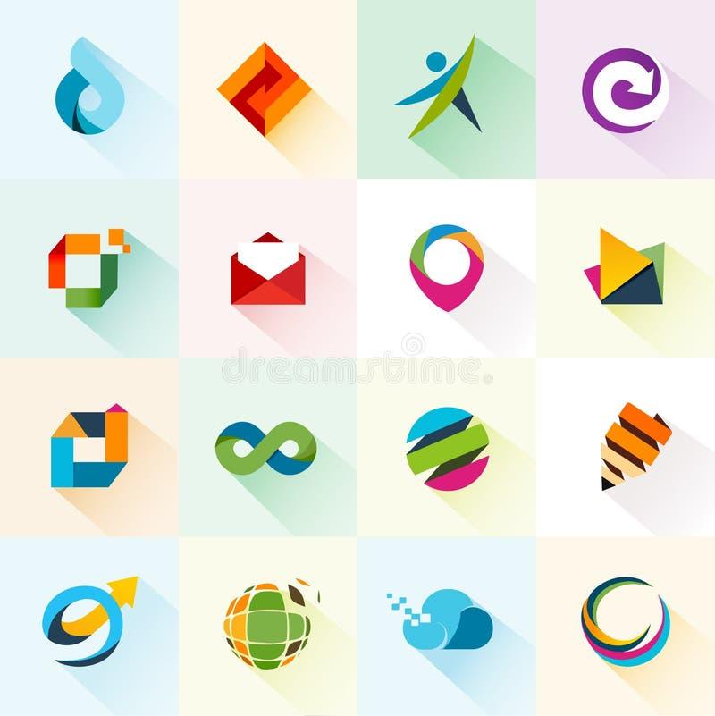 Abstrakcjonistyczne sieci ikony, elementy i royalty ilustracja