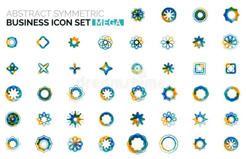 Abstrakcjonistyczne symmetric biznesowe ikony royalty ilustracja