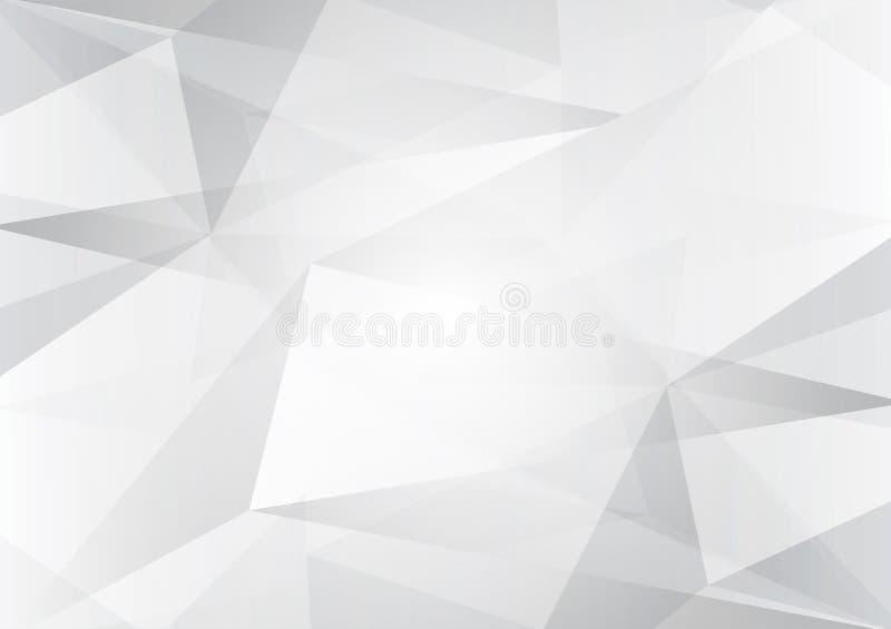 Abstrakcjonistyczne szarość i biel barwią niską poli-, wektorową tło ilustrację z kopii przestrzenią, ilustracji