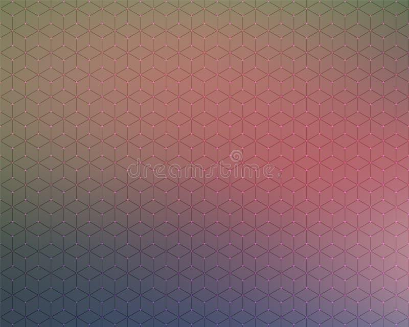 Abstrakcjonistyczne tła honeycomb plamy koloru gwiazdy ilustracji