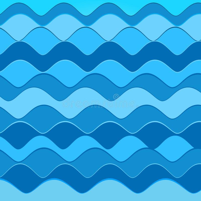 abstrakcjonistyczne tła błękit fala ilustracja wektor