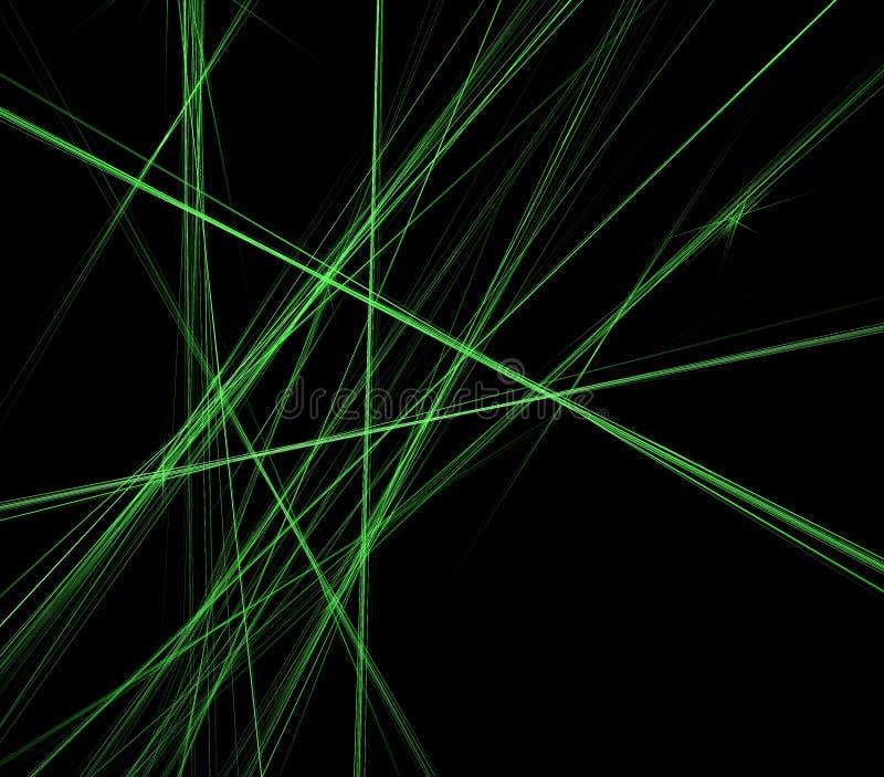 abstrakcjonistyczne tła czerń zielone liny ilustracji