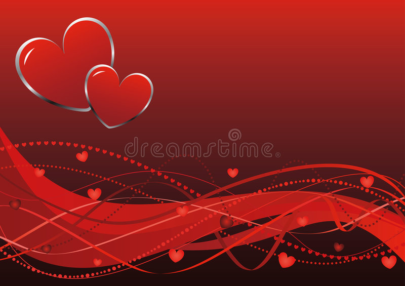 abstrakcjonistyczne tła dzień s valentine fala obraz stock