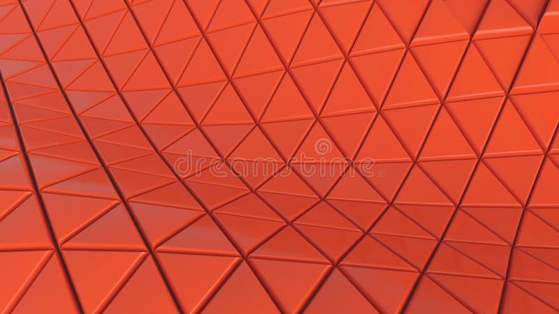 Abstrakcjonistyczne tła tła komórki rozjaśniają podłogowego koloru koral dla futurystycznego grafika sześciokąta, ilustracja 3D ilustracja wektor