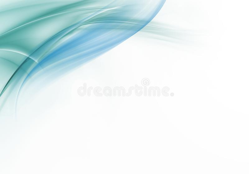 abstrakcjonistyczne tła wektoru fala Bielu, zieleni i błękita abstrakta tło, ilustracja wektor