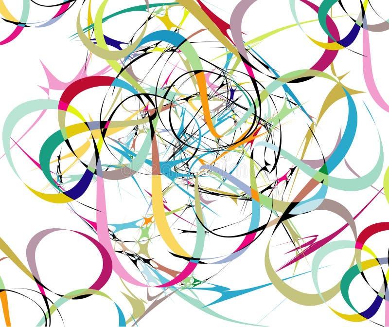 abstrakcjonistyczne tło koloru linie royalty ilustracja