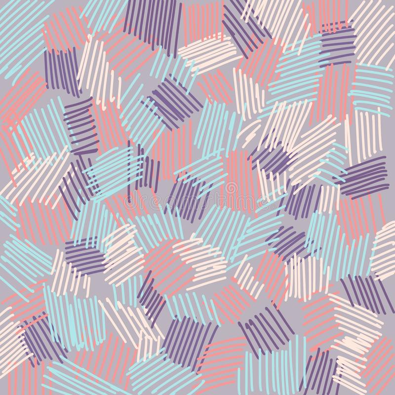 Abstrakcjonistyczne tło koloru linii purpury royalty ilustracja