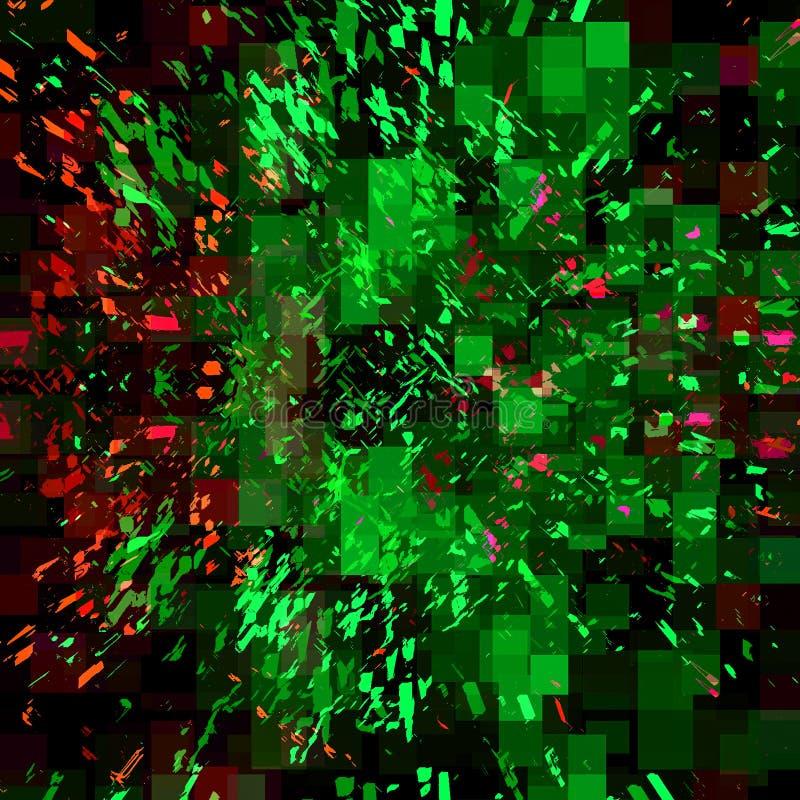 Abstrakcjonistyczne tło purpury, zieleń i ilustracji